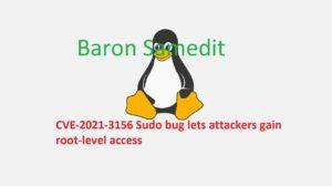 Baron Samedit, CVE-2021-3156
